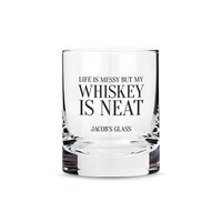 Personalized Whiskey Glasses with Whiskey is Neat Print (Pack of 1)