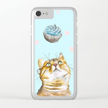 Cat Lover Cake Clear iPhone Case by lostanaw
