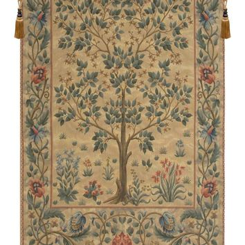 Tree of Life Beige III European Tapestry