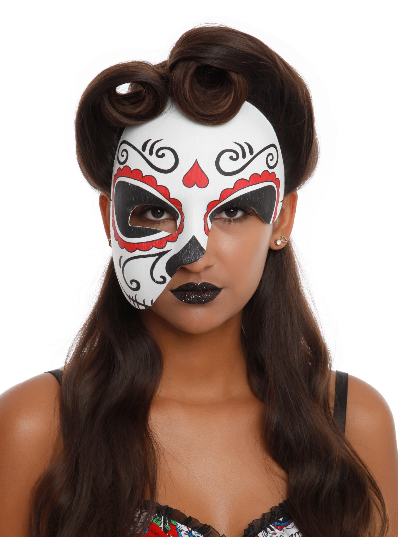 Day Of The Dead Half Mask From Hot Topic Costumes To Die For