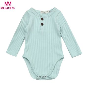 New Baby Clothes Spring Cotton Baby Girl Stripe Knit Jumpsuit Romper Baby Long Sleeve Outfit Newborn Baby Girl One-piece Romper