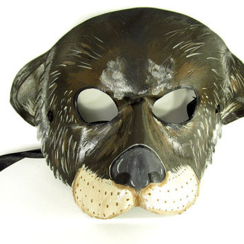 Charming Leather Otter Mask