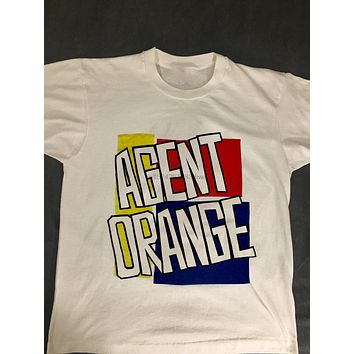 AGENT ORANGE Men's SHIRT Vintage 80's Punk Rock Band Skate Tour T-Shirt (S-3XL)