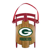 Green Bay Packers Ornament - Metal Sled