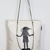 Girl on Swing Tote Bag