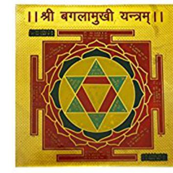 Sri Baglamukhi Yantra Success in Competitions Spiritual Symbol Vastu Goddess
