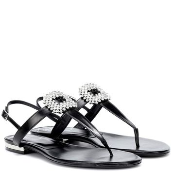 Diadem Mini leather sandals