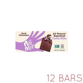 All Natural Superfruit: Cacao Nibs Dark Chocolate (1oz)