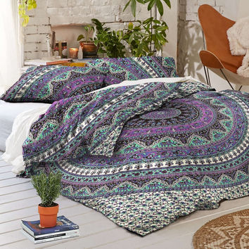 NEW Boho Elephant Caravan Tapestry Full Duvet Cover SET