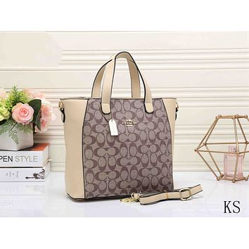 Coach Women Trending Shopping Bag Leather Satchel Handbag Shoulder Bag Crossbody G-KSPJ-BBDL