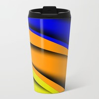 Transverse Flow Metal Travel Mug by Texnotropio