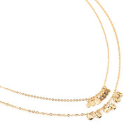 FOREVER 21 Dimpled Pendant Chain Necklace Gold One