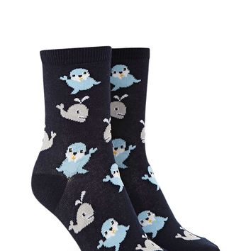 Whale And Seal Crew Socks