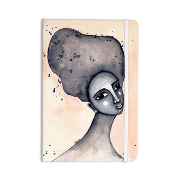 """Stacey-Ann Cole """"Yearning African American Art"""" Beige Black Everything Notebook"""