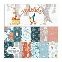 KLJUYP 12 Sheets Yuletide Scrapbooking Pads Paper Origami Art Background Paper Card Making DIY Scrapbook Paper Craft