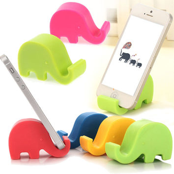 Universal Portable Elephant Phone Holder Mobile Cell Phone Stents Stand for Mp3 Mp4 For iphone 5 6 7