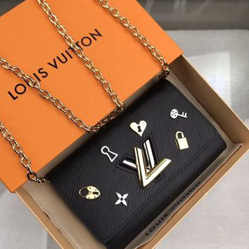 Kuyou Gb1986 Louis Vuitton Lv M63987 Epi Leather Small Leather Goods All Collections Twist Chain Wallet 19.0 X 12.5 X 2.5 Cm