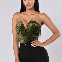 Holding Onto You Bodysuit - Olive