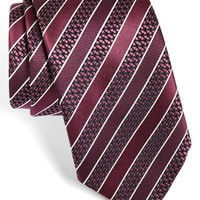 Men's Ermenegildo Zegna Stripe Silk Tie, Size Regular - Purple