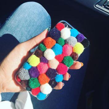 Rainbow Furry Soft Case for iPhone