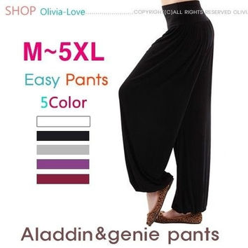 Graceful PLUS SIZE Cotton Spandex Bella Yoga Pilates Workout Pants Home SALE = 1933225284