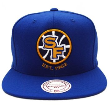 Mitchell N Ness San Francisco Golden State Warriors Blue Yellow Sf Snapback Hat Cap
