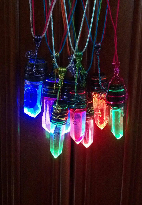Cooling Necklaces That You Freeze : Led glowing crystal necklace fade or from radicatrelics