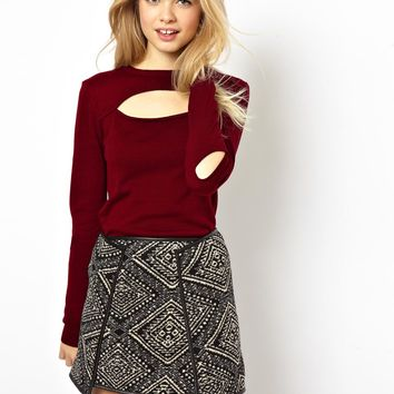 ASOS Jumper With Cut Out Front