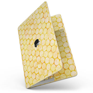 Yellow Sorted Large Watercolor Polka Dots - MacBook Pro without Touch Bar Skin Kit