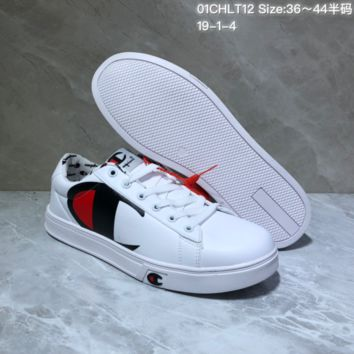 KUYOU C039 Champion x Casbia Awol Atlanta Low Leather Skate Shoes White Black Red
