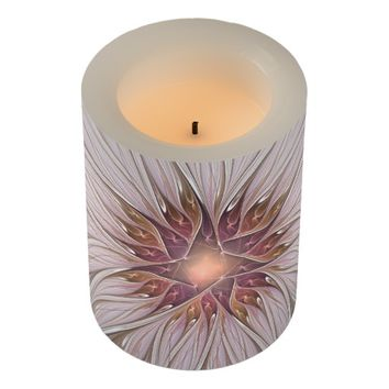 Floral Fantasy Abstract Fractal Art Flameless Candle