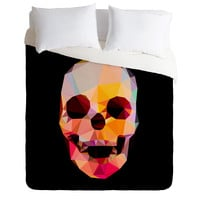 Three Of The Possessed Skull Sunrise Duvet Cover