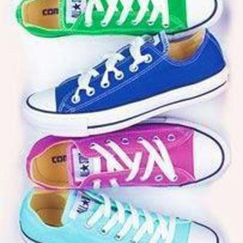 DCKL9 Converse' Fashion Canvas Flats Sneakers Sport Shoes green