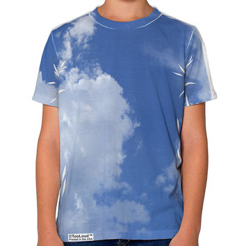 Clouds All Over Youth T-Shirt Single Side All Over Print