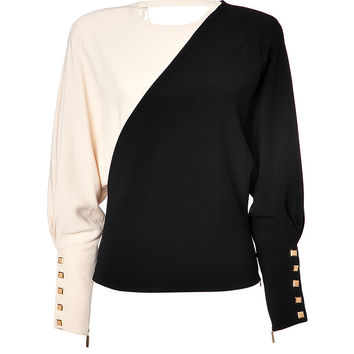 Emanuel Ungaro - Two-Tone Top in Black/Beige
