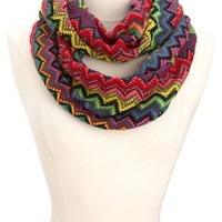 Sweater Knit Chevron Infinity Scarf by Charlotte Russe
