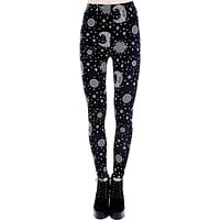 Restyle Dark Boho Moon & Stars Gypsy Witch Leggings