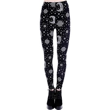 Darkboho Moon & Stars Gypsy Witch Leggings