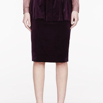 Burberry Prorsum Purple Velvet Layered Skirt