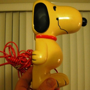 RARE Vintage Snoopy Phone (Red Cord) Excellent working condition