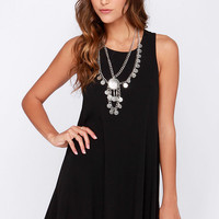 Chic Easy Black Swing Dress
