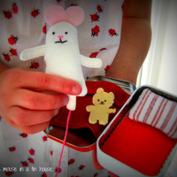 Wee Mouse in a tin house toy