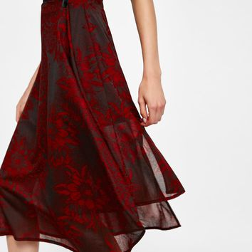 ASYMMETRIC JACQUARD SKIRT