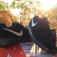 Custom Nike Roshe Run Oreo athletic running shoes