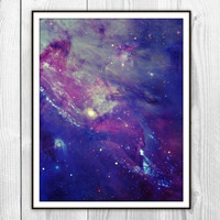 Galaxy Collage 1 Art Print - Stars in Space Photography - Dorm Poster Decor - Purple Galaxy Space Modern Art Photo
