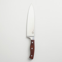 "8"" Stainless Steel Chef's Knife with Walnut Handle - World Market"