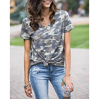 Grace & Lace Perfect Pocket Tee (Washed Camo)