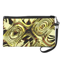 Bold Move - Yellow and Black Abstract Wristlet Clutch