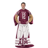 Texas A&M Aggies Uniform Comfy Throw Blanket with Sleeves by Northwest (Tam Team)
