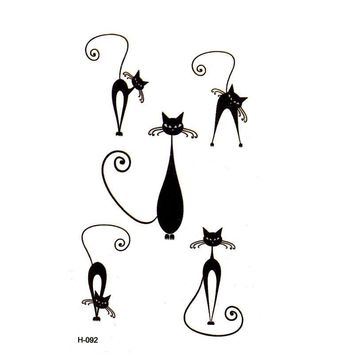 Tattoo Sticker Black Cat  Temporary Tattoo Stickers Animal Temporary